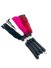 TOF INC Rabbit Fur And Leather Swivel Flogger