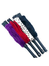 TOF INC 24 inch Rabbit Fur and Leather Flogger