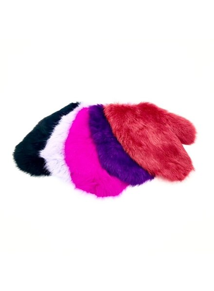 TOF INC Leather and Rabbit Fur Spanking mitt