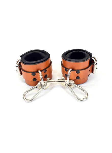 Axovus LLC Leather Wrist Bondage Cuffs