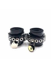 Axovus LLC Locking Lined PVC Wrist Bondage Cuffs