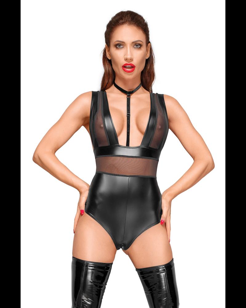 Noir Handmade Body suit with velvet choker