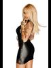 Noir Handmade Short dress W/ open front