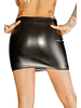 NH RULER - Ecoleather miniskirt with 2- way zipper