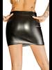 NH RULER - Ecoleather miniskirt with 2- way zipper