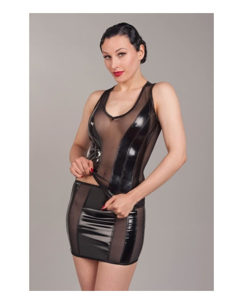 Peter Domenie Sheer and PVC top