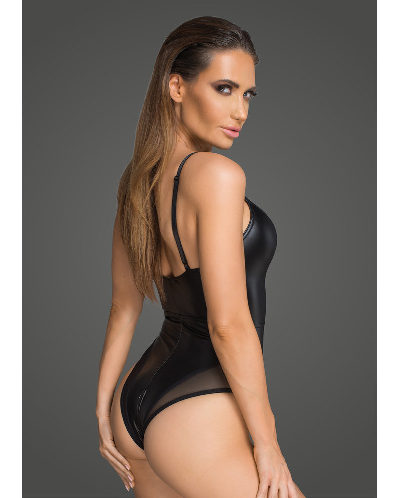 Noir Handmade Body suit with front lace