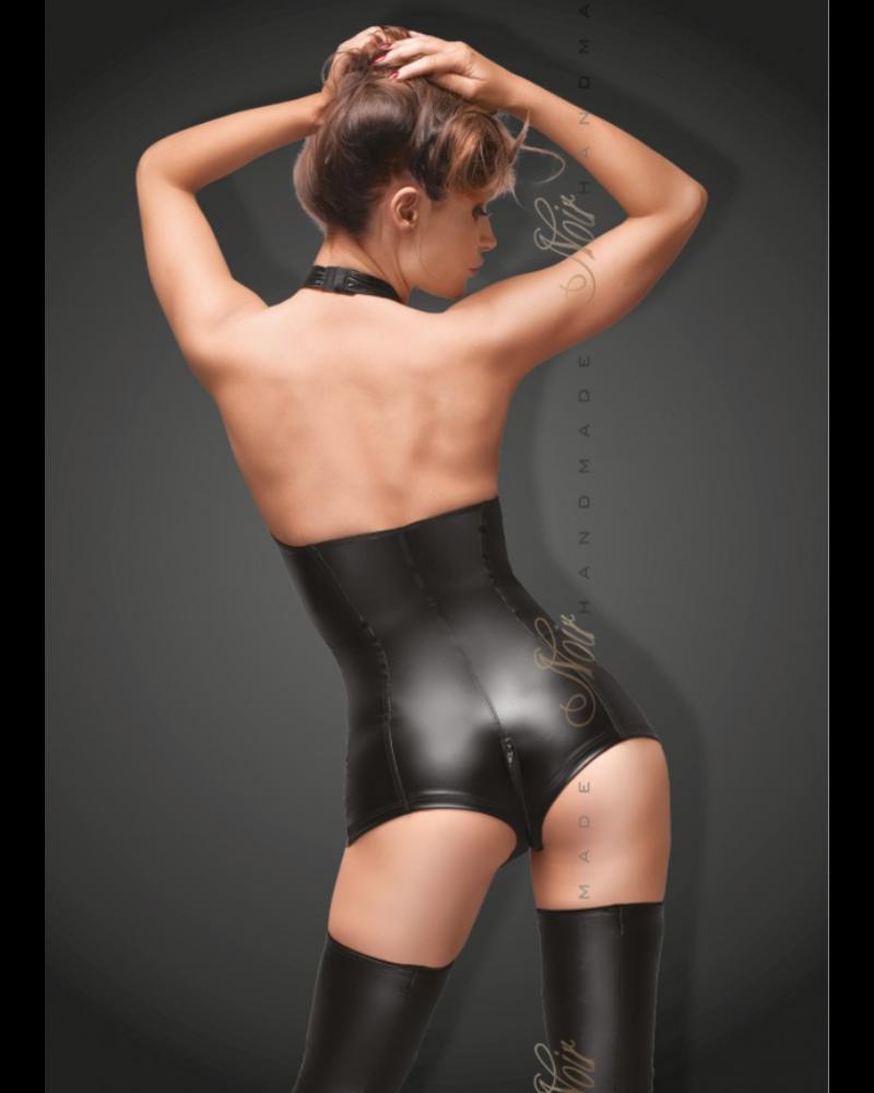 Noir Handmade Bodysuit with open lace front