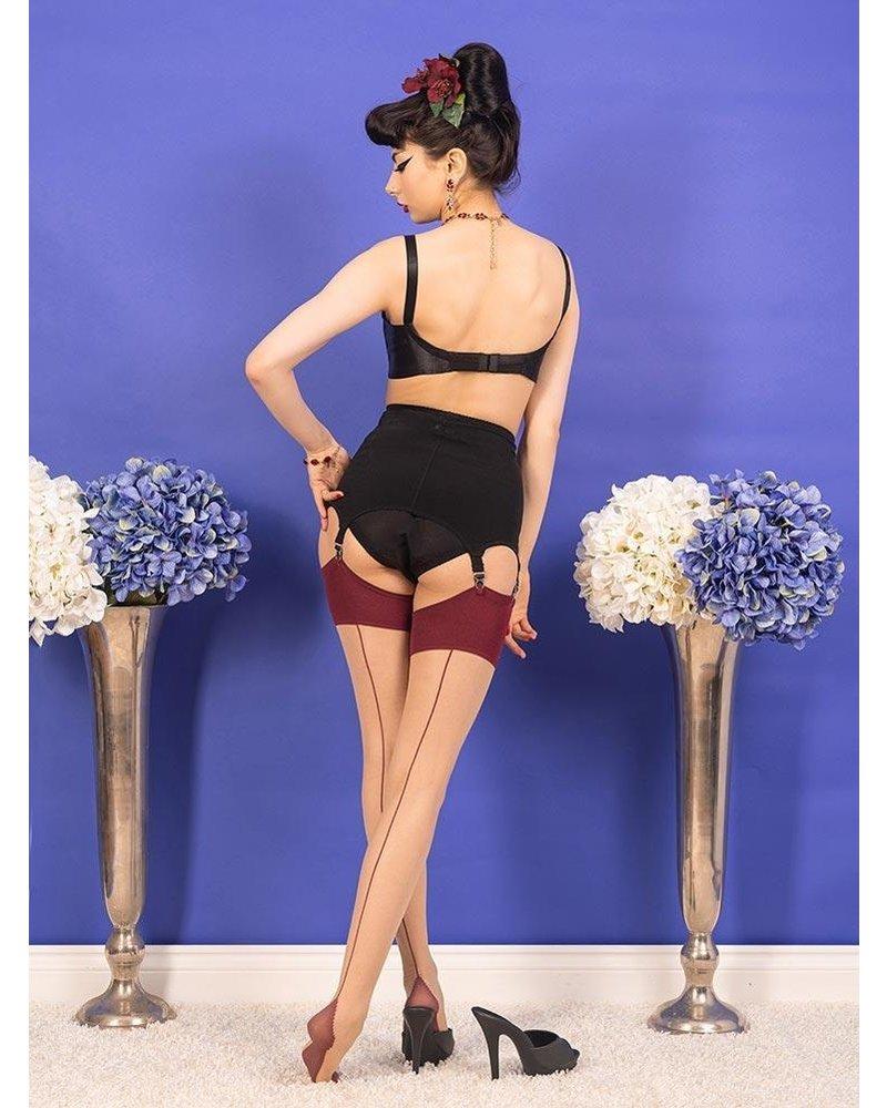Whatkatiedid Seamed Stockings Claret Glamour