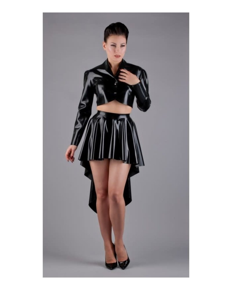 Peter Domenie Flared latex skirt