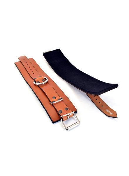 Axovus LLC Lined Leather Ankle Bondage Cuffs