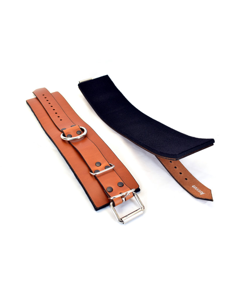 Lined Leather Ankle Bondage Cuffs