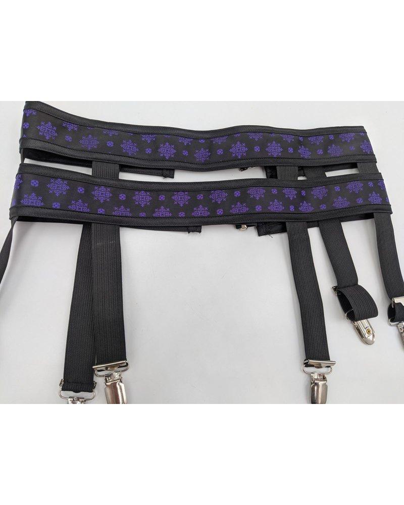 Satin double strap garter