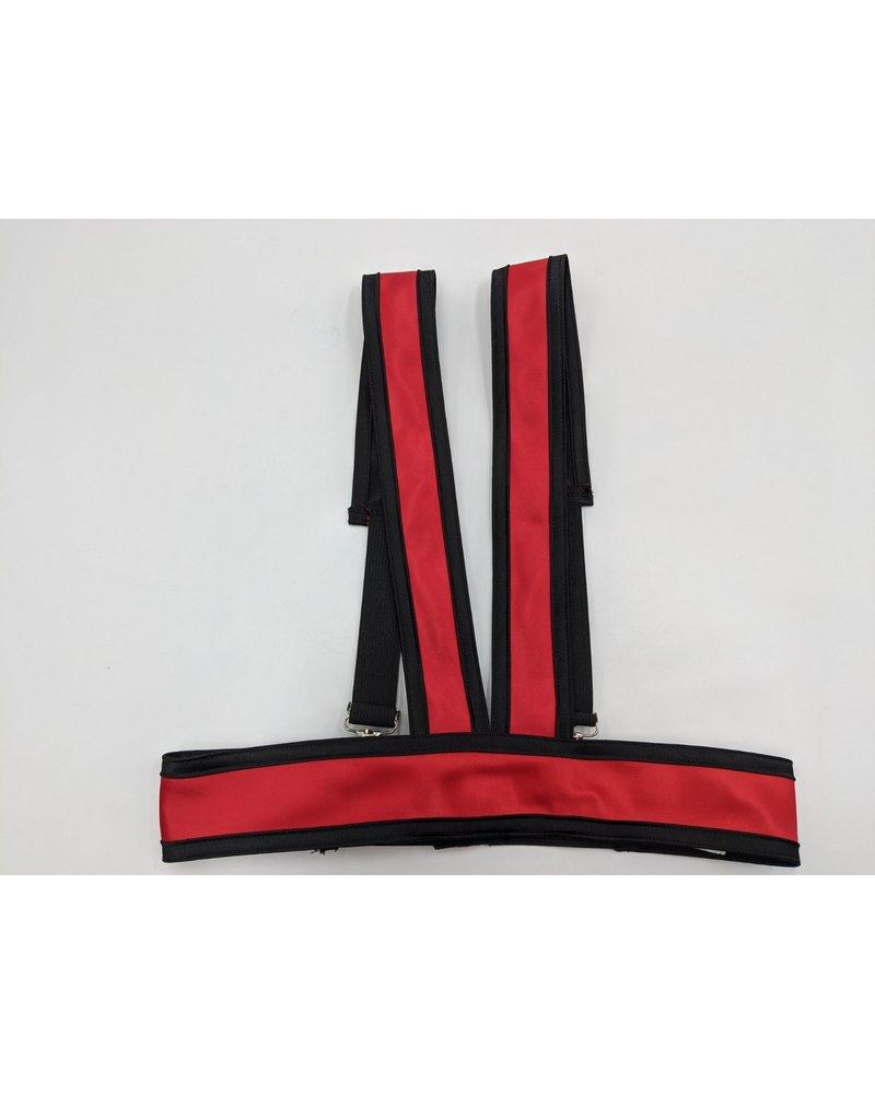 Satin Plain Harness Red