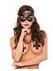 Allure Lingerie Kitten Croc & Lace Eyelash Lace Mask