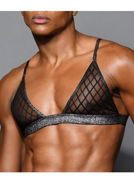 Andrew Christian Lattice Lace Bra