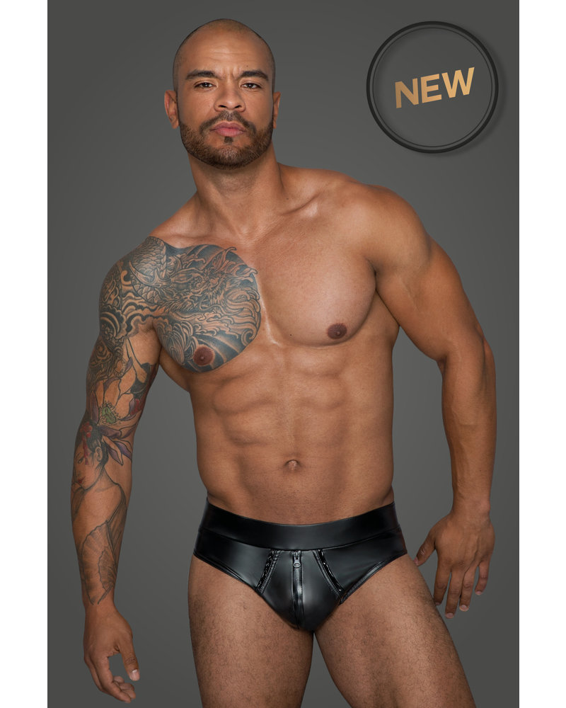 Noir Handmade Masculine Shorts with continuous zipper