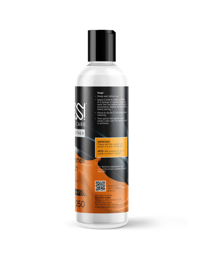 beGloss Leather Polish & Cleaner