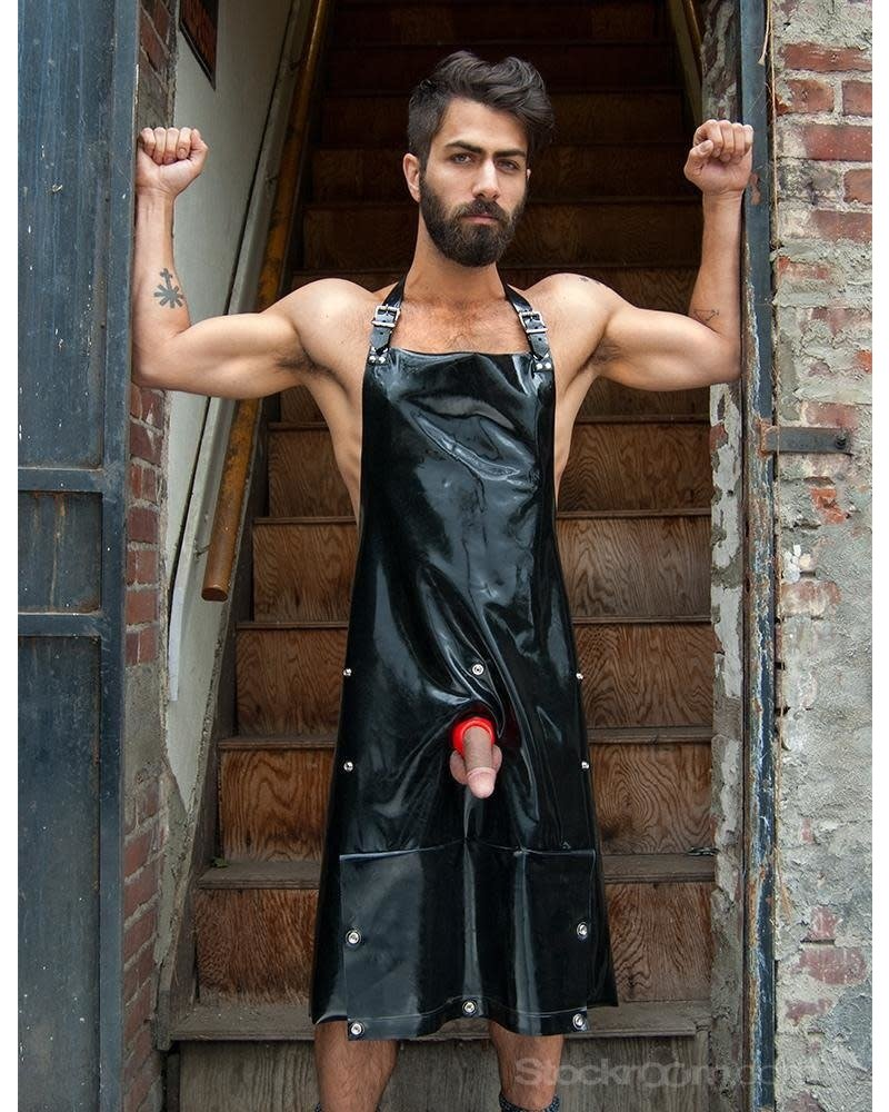 STOCKROOM Rubber Apron with Cockhole and Pocket