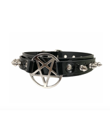 FPINC Vinyl pentagram Choker with spikes