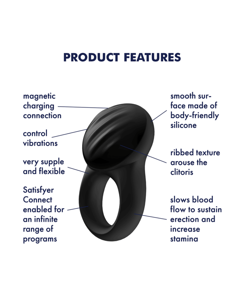 Satisfyer Satisfyer Signet Ring w/Bluetooth App