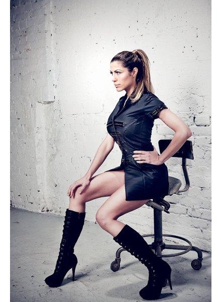 Tatjana Warnecke Military Dress Shiny Basic