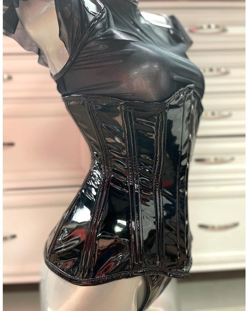 Bondesque Long torso PVC under bust corset