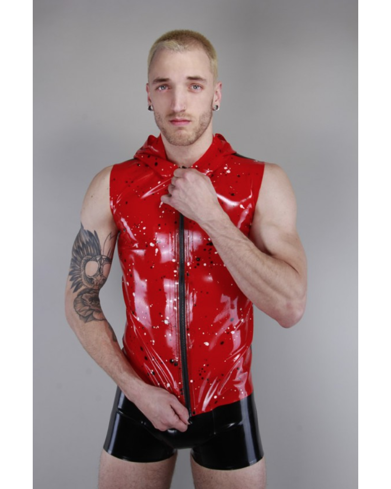 Latex101 Red Marbled sleeveless hoody