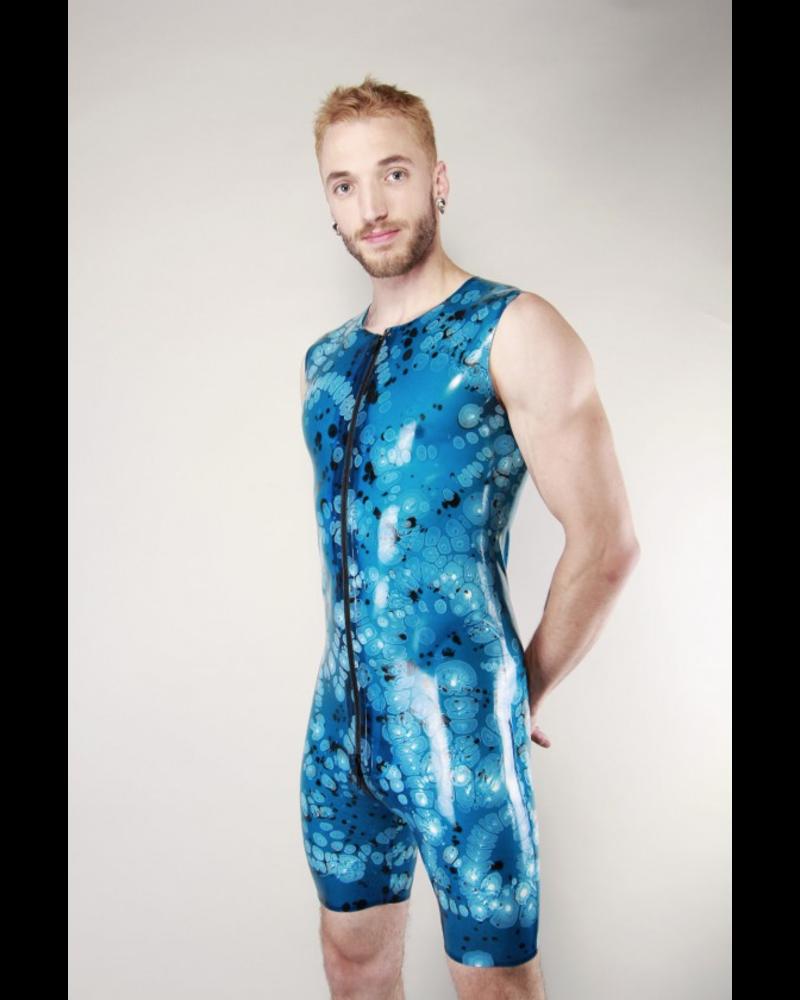 Latex101 Marbled sleeveless surf suit