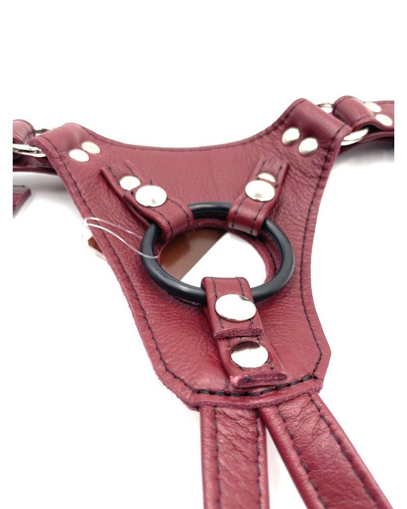 Aslan Leather Cherry Jag Dildo Harness