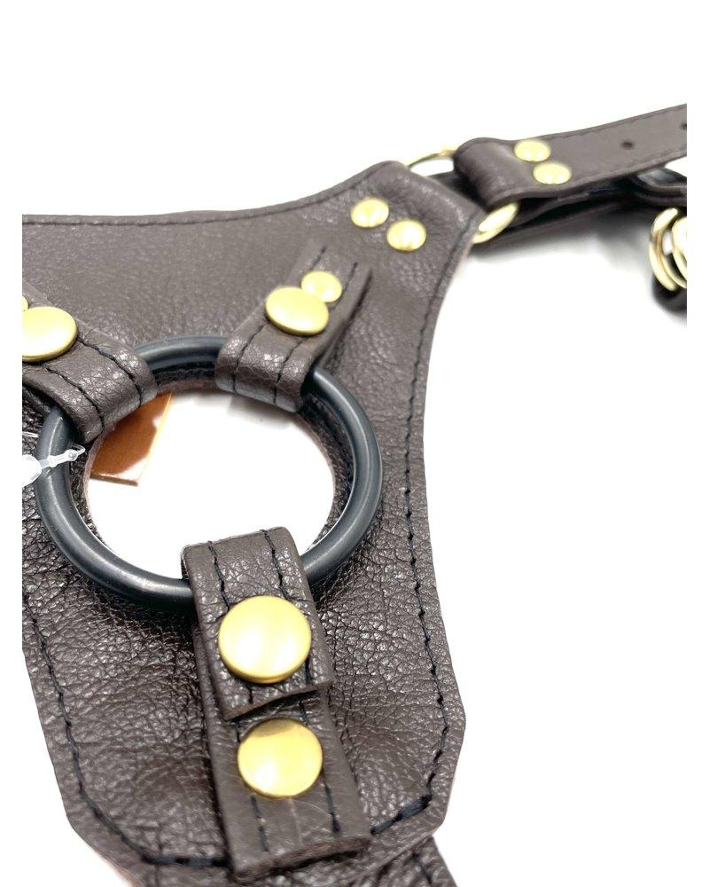 Aslan Leather Steam Punk Jag Dildo Harness