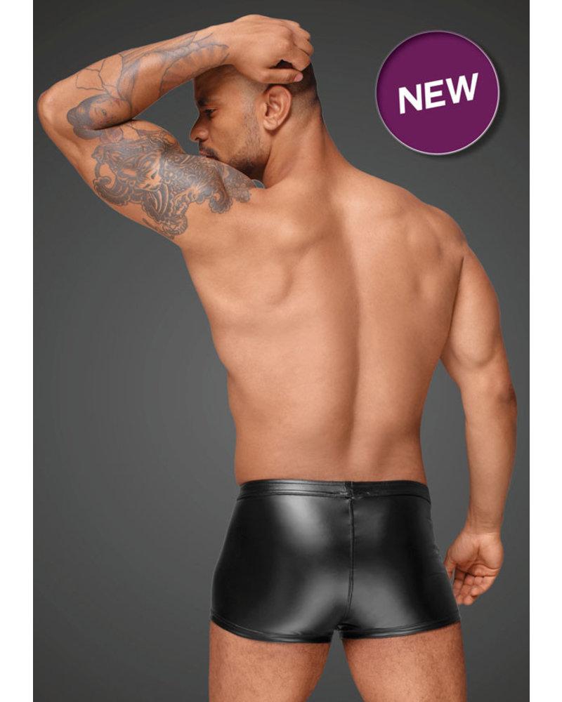 Noir Handmade Shorts with PVC/zipper front