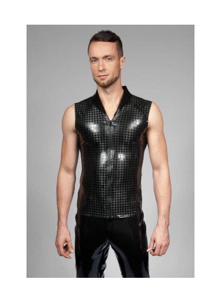 Peter Domenie Sleeveless latex  top  Houndstooth pattern