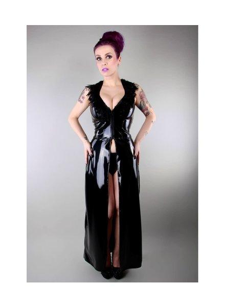Peter Domenie Feather goddess long dress