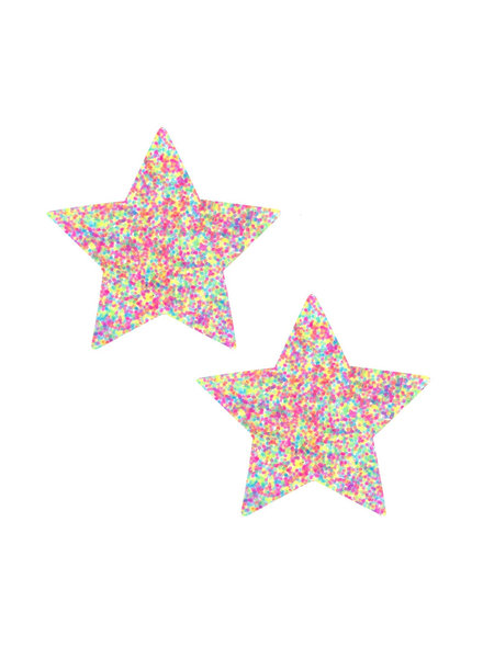 Neva Nude Star Sprankles Neon UV Pastie