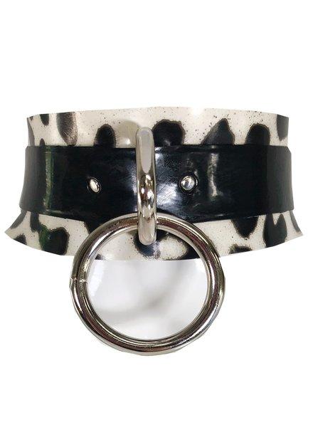 VexClothing Print Latex Ring Collar