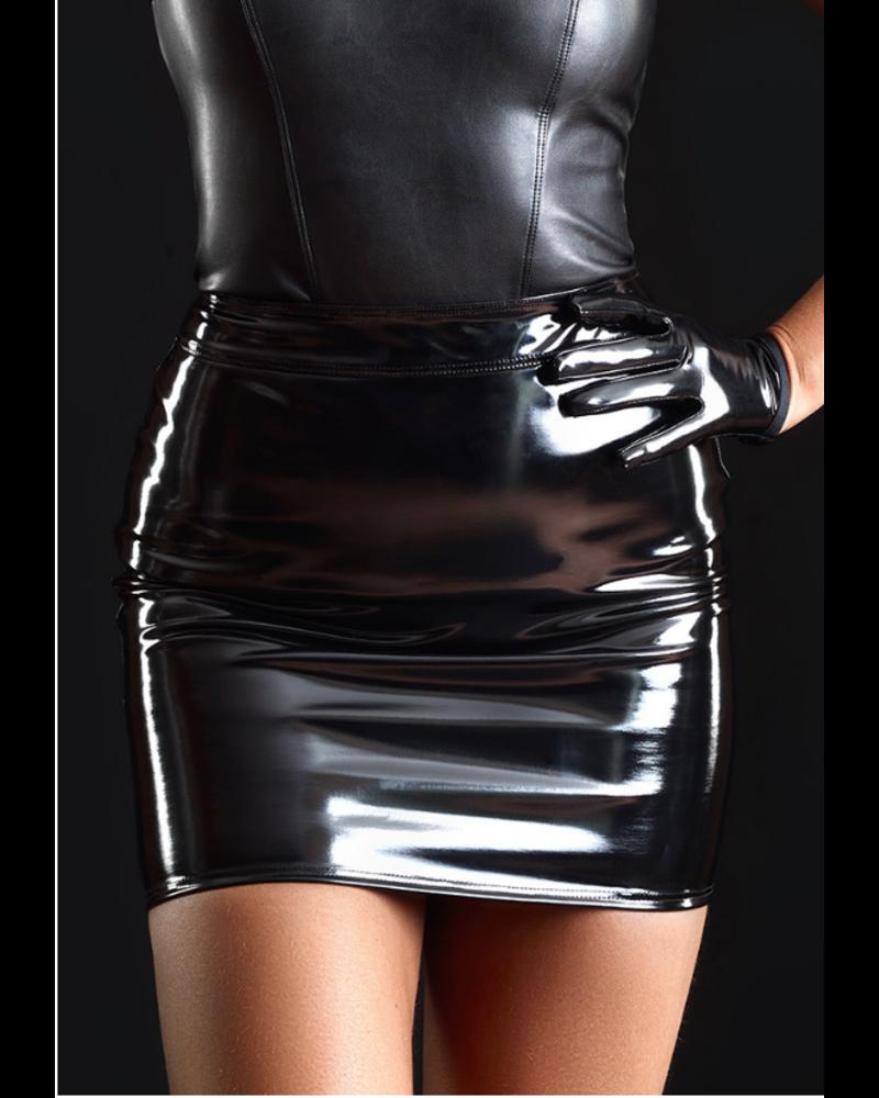Patrice Catanzaro Praline vinyl skirt