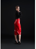 Patrice Catanzaro Ornella Red Vinyl skirt