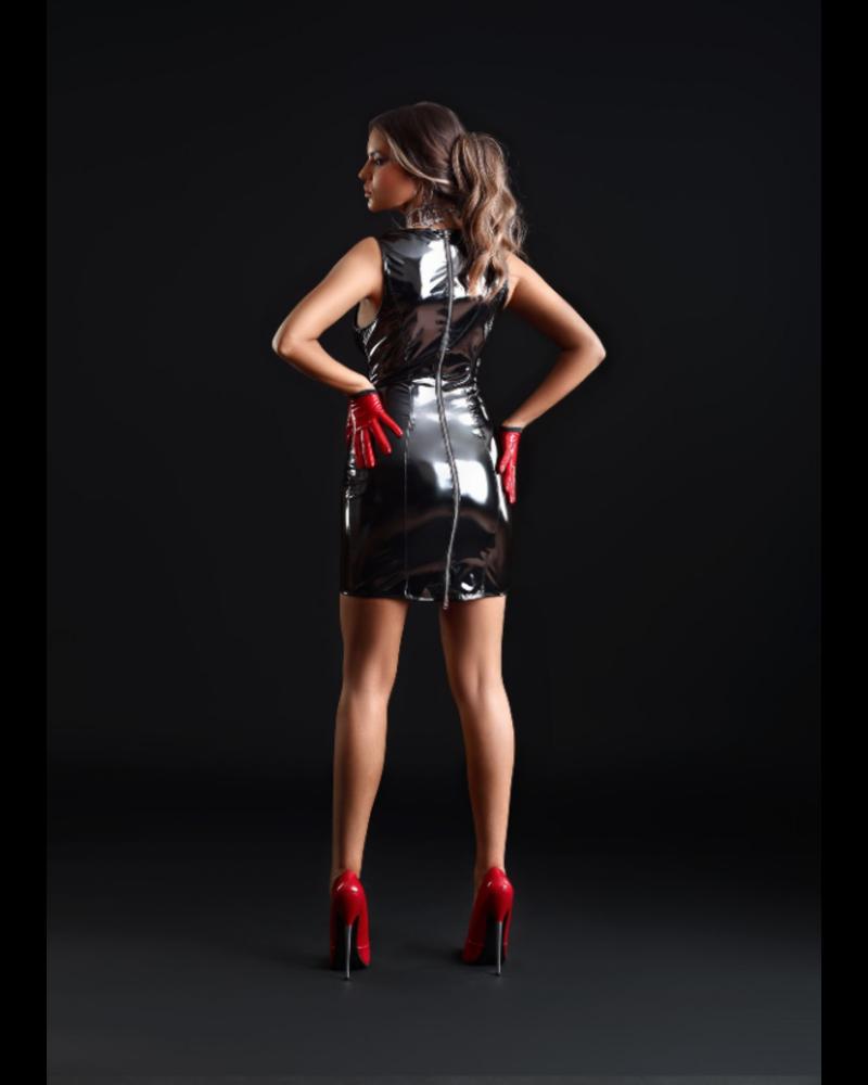 Patrice Catanzaro Emmanuelle black vinyl dress