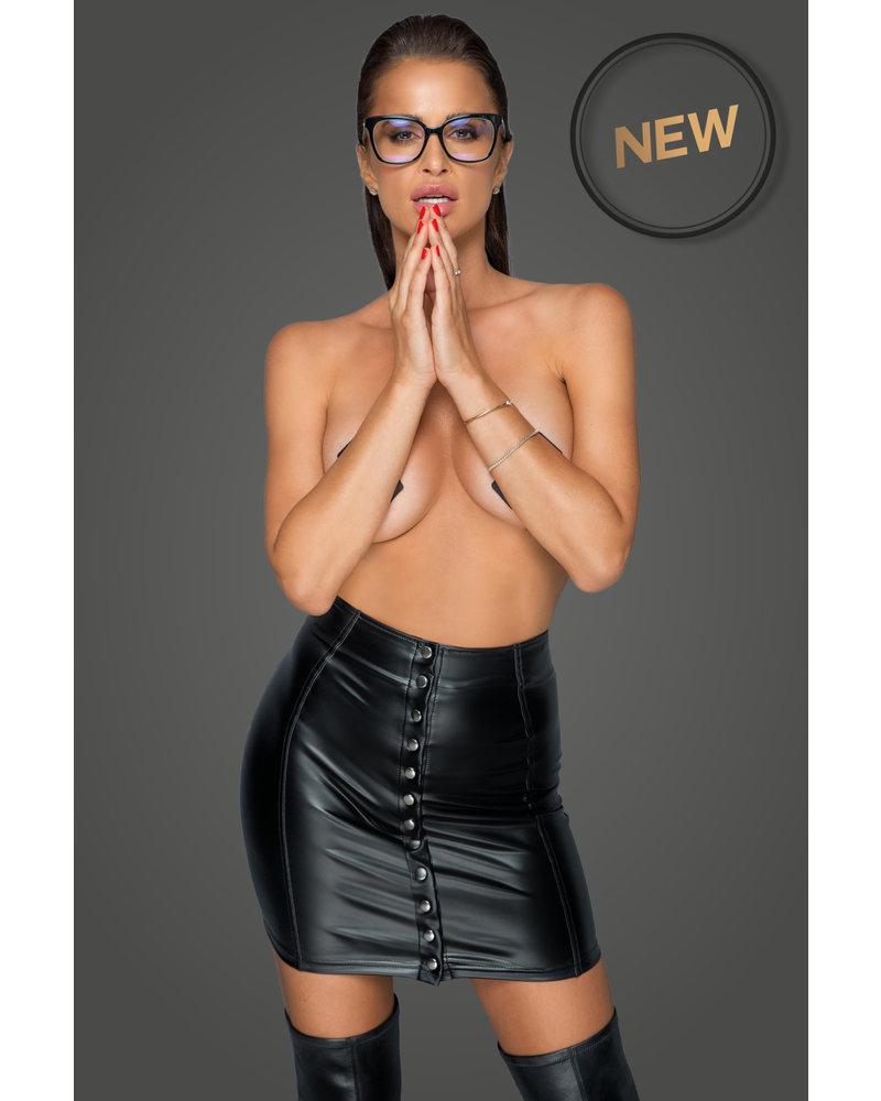 Noir Handmade Skirt with button placket
