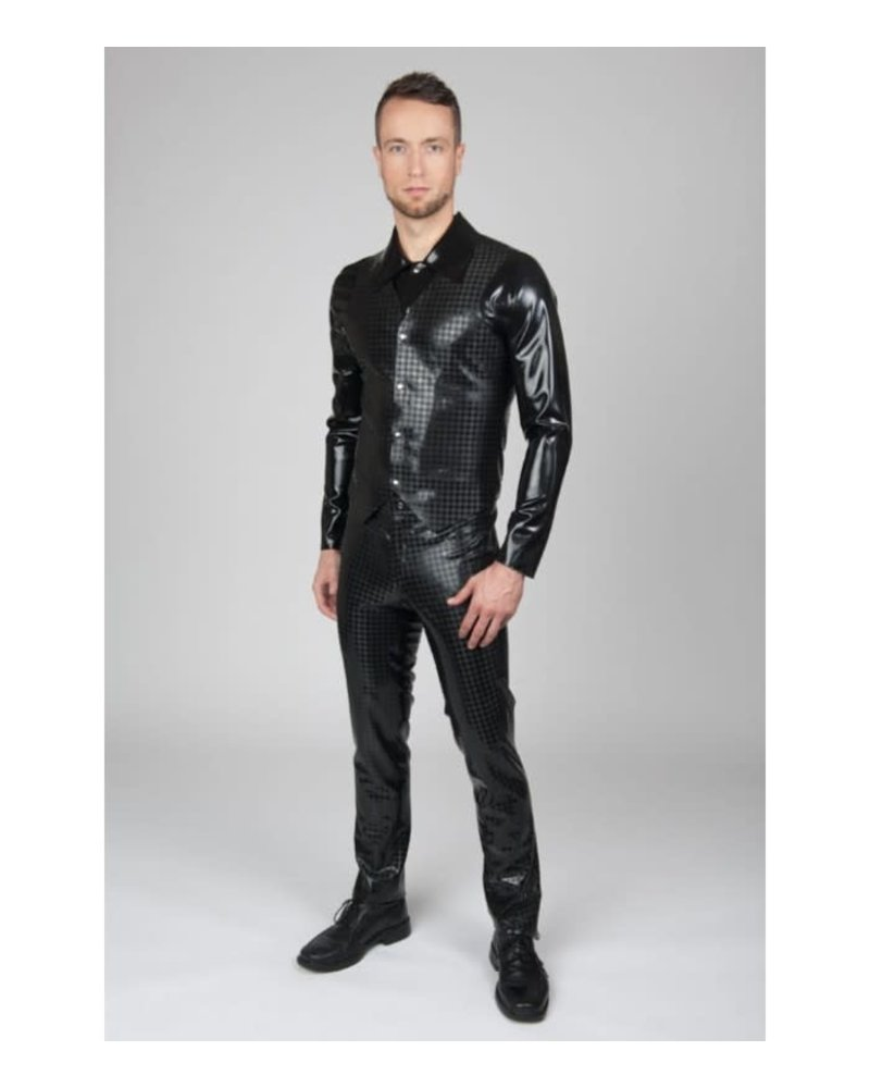 Peter Domenie Latex Vest with Houndstooth pattern