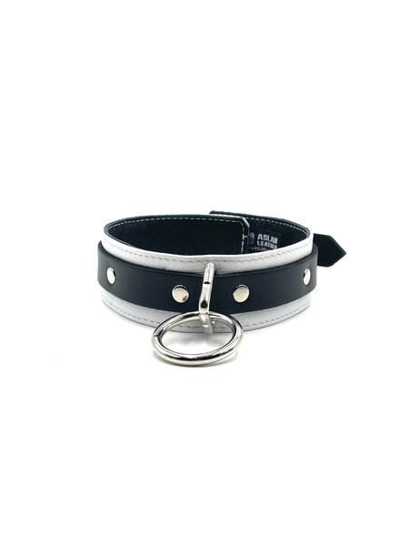 Aslan Leather Jaguar White Collar