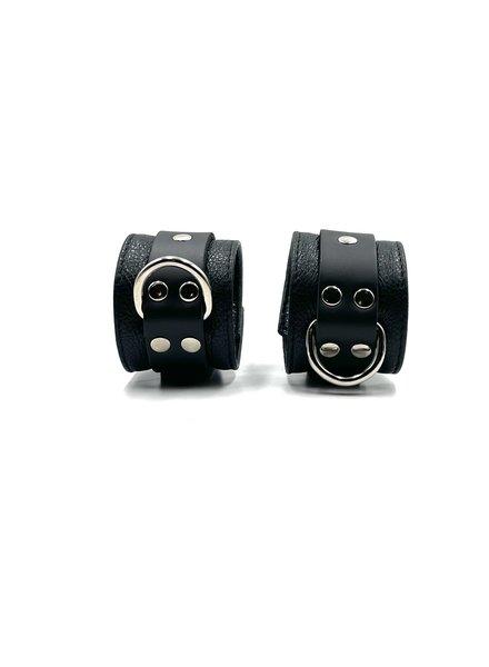 Aslan Leather Jaguar Black Wrist Cuffs