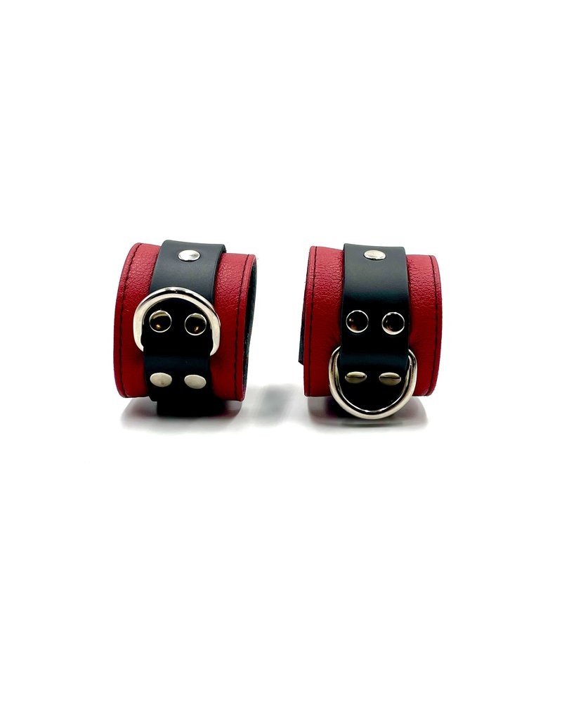 Aslan Leather Jaguar Red Wrist Cuffs