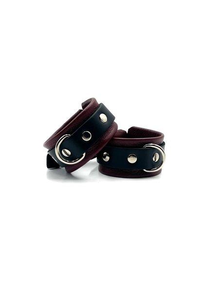Aslan Leather Cherry Kink Wrist Cuffs