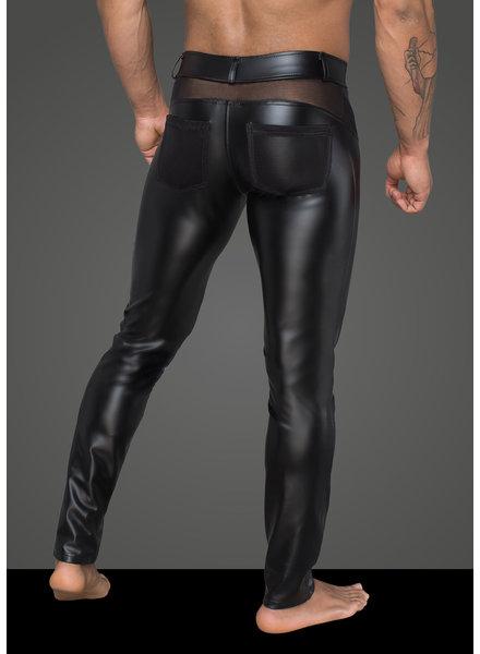 Noir Handmade Mens pleather pants with mesh