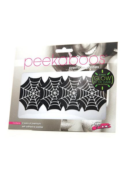 Peekaboos Glow in the Dark Webs pasties