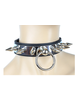 Choker with Metal plate and spikes