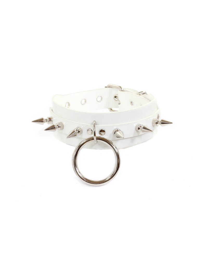 Vinyl Choker with spikes and O ring