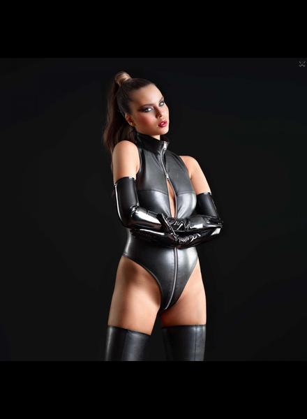 Patrice Catanzaro Sixtine faux leather bodysuit